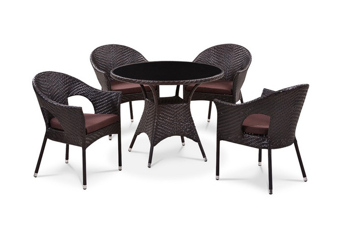 где купить Комплект мебели из искусственного ротанга 4+1 T190B-1/ Y-97B по лучшей цене