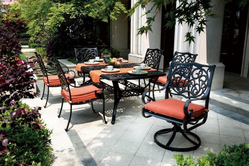 Комплект мебели из литого алюминия Барселона hoff кресло вращающееся high tech