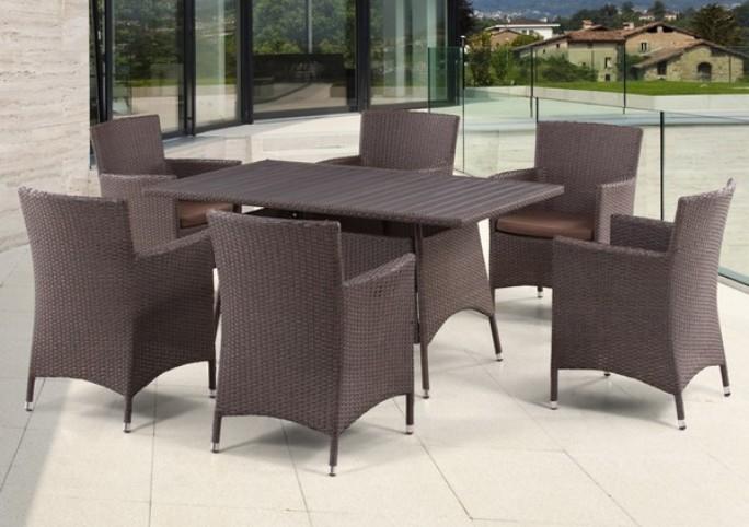 где купить Комплект мебели из искусственного ротанга 6+1 T278A Y-189В по лучшей цене