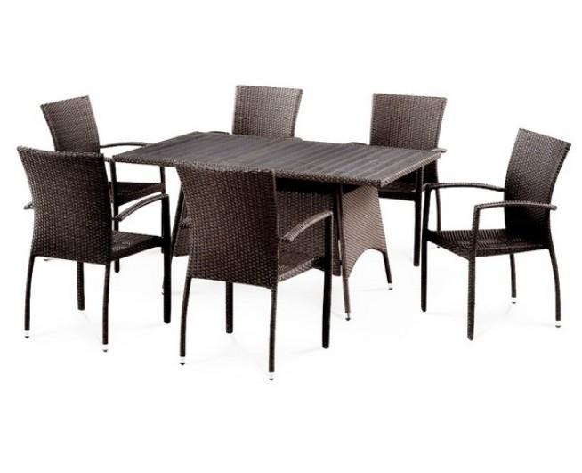 Комплект мебели из искусственного ротанга 6+1 T278A Y-274В