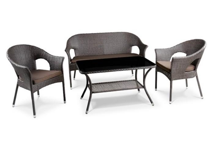 Комплект мебели из искусственного ротанга 2+1+1 Y-97B-2 Y-97BP T270B Афина Мебель