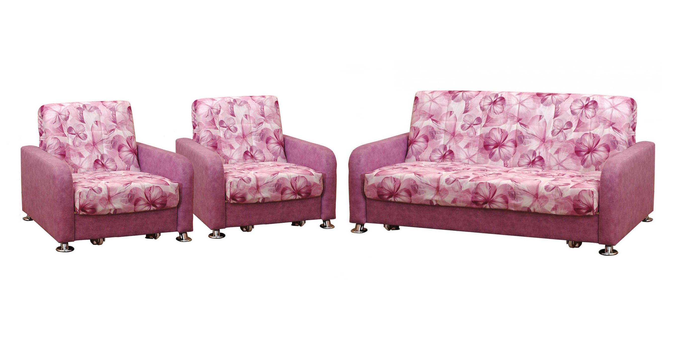 Комплект мягкой мебели Аккорд хром