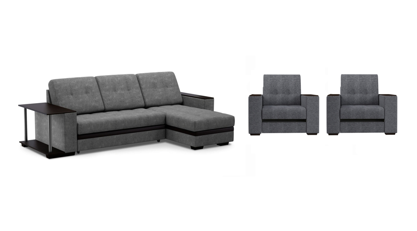 Комплект мягкой мебели Атланта со столом Sofa-2 r 96 со столом