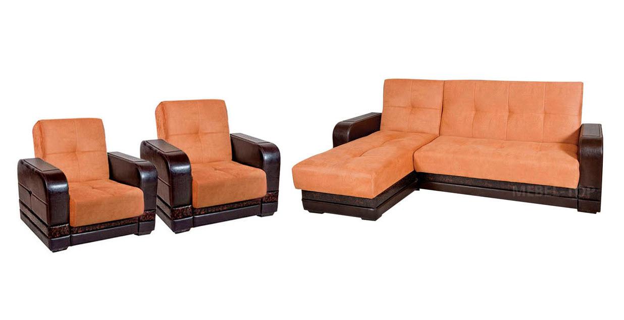 Комплект угловой мягкой мебели Глория