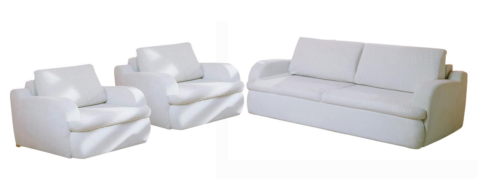 Комплект мягкой мебели Мустанг Фиеста Размер: диван: 232х115 В90 (сп. м. 147х190), кресло: 115х110 В90 (сп. м. 75х224)