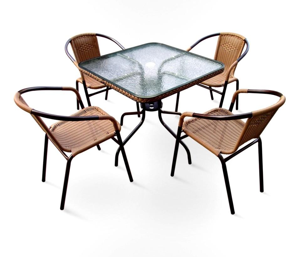 Комплект мебели для дачи Николь-2A квадрат Афина
