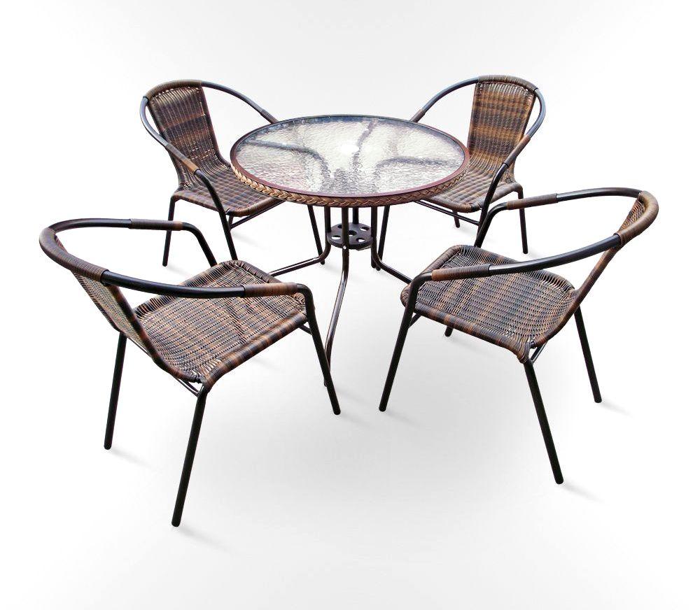 Комплект мебели для дачи Николь-1В круглый