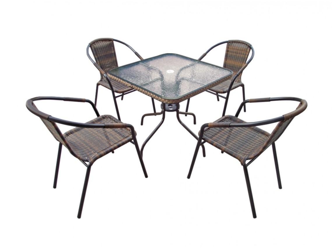 Комплект мебели для дачи Николь-2В квадрат Афина Мебель
