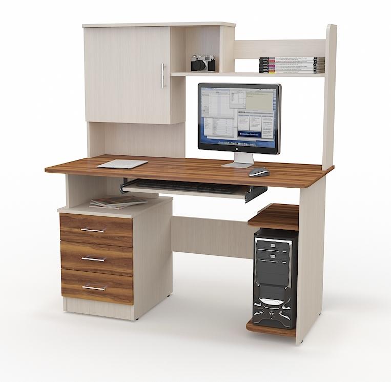 Компьютерный стол СК-201Компьютерные столы<br>Размер:<br><br>Материалы: ЛДСП Kronospan - 16 мм., кромка ПВХ - 0,4 мм.<br>Полный размер (ДхВхГ): 1300х1520х650<br>Примечание: Доставляется в разобранном виде<br>Изготовление и доставка: 10-14 дней<br>Условия доставки: Бесплатная по Москве до подъезда<br>Условие оплаты: Оплата наличными при получении товара<br>Доставка по МО (за пределами МКАД): 30 руб./км<br>Доставка в пределах ТТК: Доставка в центр Москвы осуществляется ночью, с 22.00 до 6.00 утра<br>Подъем на лифте: 300 руб.<br>Подъем без лифта: 150 руб./этаж<br>Сборка: 1000 руб.<br>Гарантия: 12 месяцев<br>Производство: Россия<br>Производитель: Grey