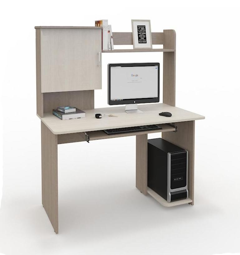 Компьютерный стол СК-214Компьютерные столы<br>Размер: 1200x1450x630<br><br>Материалы: ЛДСП Kronospan - 16 мм., кромка ПВХ - 0,4 мм.<br>Полный размер (ДхВхГ): 1200x1450x630<br>Примечание: Доставляется в разобранном виде<br>Изготовление и доставка: 10-14 дней<br>Условия доставки: Бесплатная по Москве до подъезда<br>Условие оплаты: Оплата наличными при получении товара<br>Доставка по МО (за пределами МКАД): 30 руб./км<br>Доставка в пределах ТТК: Строго после 22:00 (центр Москвы)<br>Подъем на лифте: 300 руб.<br>Подъем без лифта: 150 руб./этаж<br>Сборка: 800 руб.<br>Гарантия: 12 месяцев<br>Производство: Россия<br>Производитель: Grey