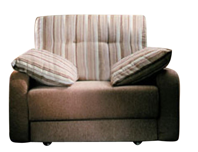 Кресло-кровать РегатаКресло-кровати<br>Размер: 105х110 В90 (сп. м. 75х224)<br><br>Механизм: Выкатной<br>Материалы: Массив сосны, фанера<br>Каркас: Деревянный<br>Полный размер (ДхГхВ): 105х110х90<br>Спальное место: 75х224<br>Наполнитель: ППУ высокой плотности (Пенополиуретан)<br>Комплектация: Ящик для белья, подушки в стоимость не входят<br>Примечание: Стоимость указана по минимальной категории ткани. Мебель может быть изготовлена в двух исполнениях: СТАНДАТ и ЛЮКС<br>Изготовление и доставка: 5-14 рабочих дней, в зависимости от обивки<br>Условия доставки: Бесплатная по Москве до подъезда<br>Условие оплаты: Оплата наличными при получении товара<br>Доставка по МО (за пределами МКАД): 40 руб./км<br>Доставка в пределах ТТК: Доставка в центр Москвы осуществляется ночью, с 22.00 до 6.00 утра<br>Подъем на грузовом лифте: 350 руб.<br>Подъем без лифта: На первый этаж 250 руб., выше 200 руб./этаж<br>Сборка: 200 руб. в день доставки, заказать сборку Вы можете, если у Вас оформлена услуга подъем/занос изделия в помещение<br>Гарантия: 12 месяцев<br>Производство: Россия<br>Производитель: Фиеста