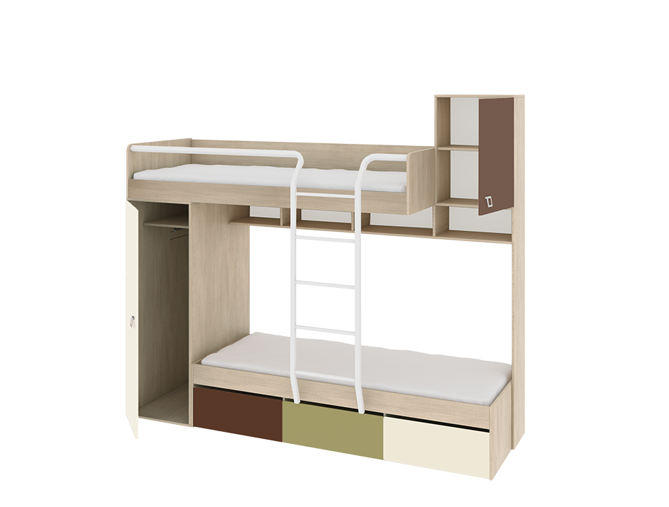 Двухъярусная кровать Тетрис мебель трия тетрис гн 154 003