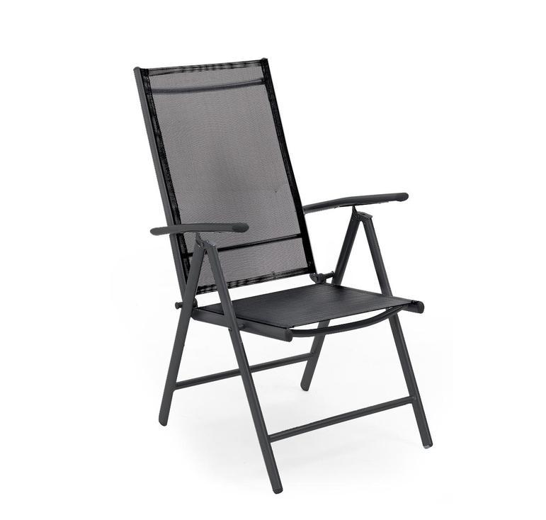 Кресло из алюминия Primus-1Металлическая мебель<br>Размер: 45х45х44 В106<br><br>Артикул: 1317-8<br>Механизм: Раскладной, с регулируемой спинкой<br>Материалы: Алюминий<br>Полный размер: 45х45х44 В106<br>Цвет: Алюминий-черный, Текстилен-черный<br>Изготовление и доставка: 2-3 дня<br>Условия доставки: Бесплатная по Москве до подъезда<br>Условие оплаты: Оплата наличными при получении товара<br>Гарантия: 12 месяцев<br>Производство: Швеция<br>Производитель: Brafab