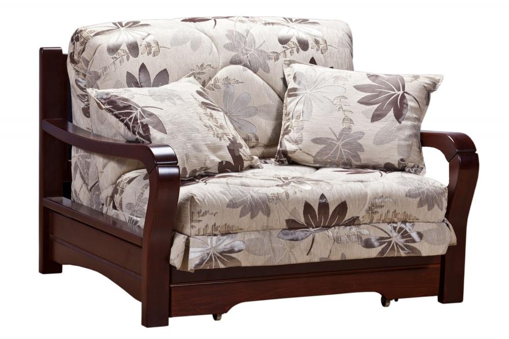 Кресло-кровать аккордеон Женева с деревянными подлокотниками