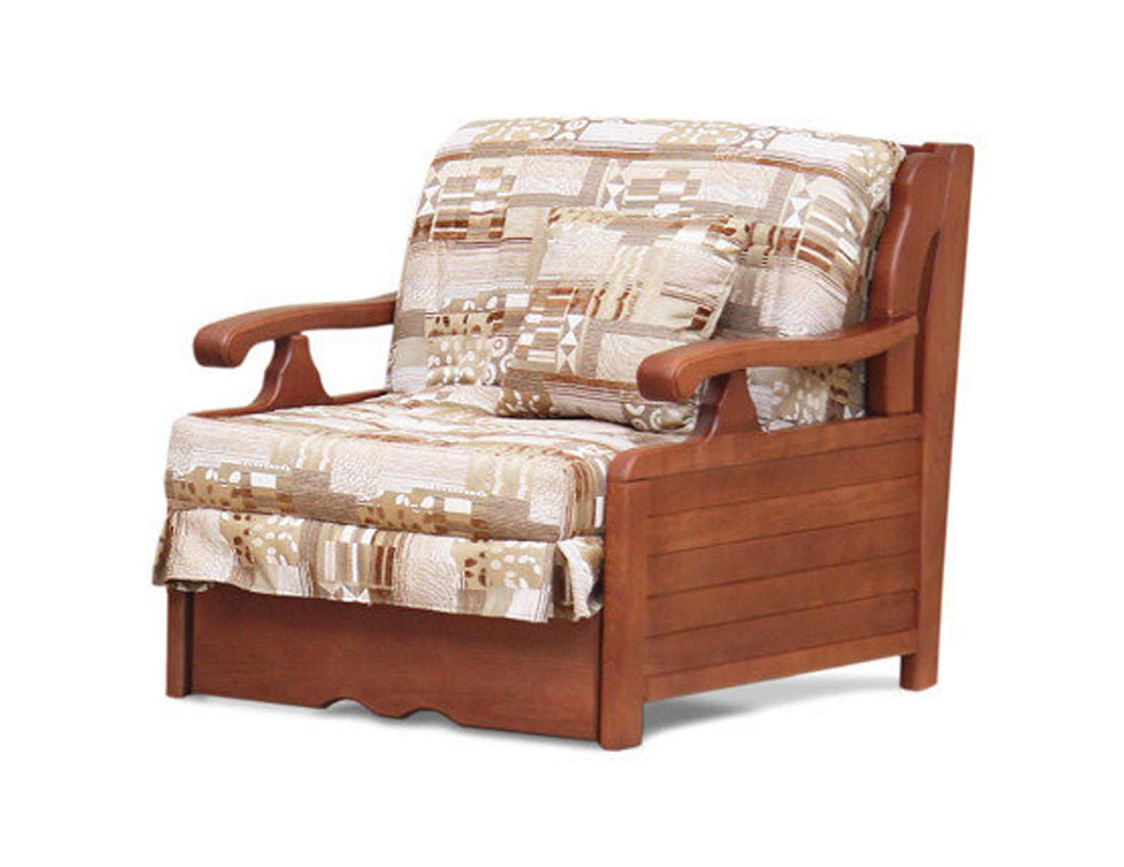 Кресло-кровать Арктур с деревянными подлокотниками