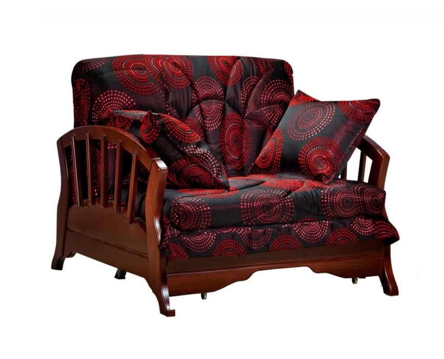 Кресло-кровать Канопус с деревянными подлокотниками
