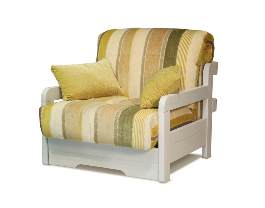 Кресло-кровать Капелла с деревянными подлокотниками