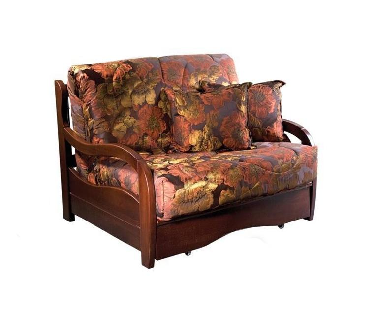 Кресло-кровать Нирвана с деревянными подлокотниками