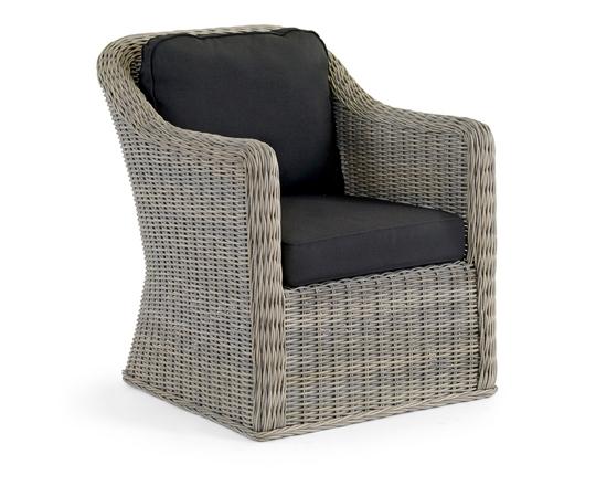 Плетеное кресло AmiraПлетеная мебель из искусственного ротанга<br>Размер: 80х70 В85<br><br>Артикул: 5601-7-8<br>Материалы: Искусственный ротанг<br>Каркас: Алюминиевый<br>Полный размер: 80х70 В85<br>Наполнитель: ППУ высокой плотности (Пенополиуретан)<br>Комплектация: Подушки<br>Цвет: Ротанг-серый, Ткань-черная<br>Изготовление и доставка: 2-3 дня<br>Условия доставки: Бесплатная по Москве до подъезда<br>Условие оплаты: Оплата наличными при получении товара<br>Производство: Швеция<br>Производитель: Brafab