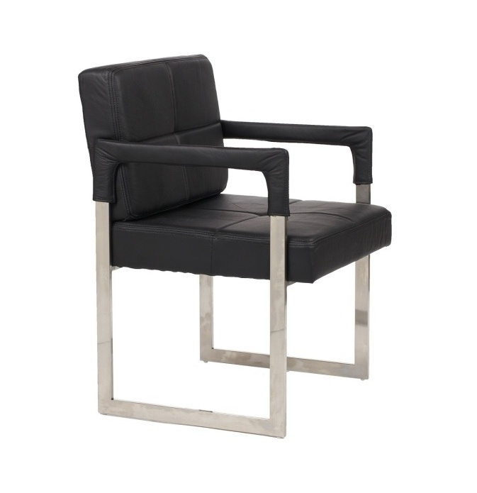DG-HOME Кресло Aster Chair Black Leather the silver chair