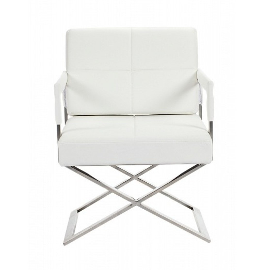 DG-HOME Кресло Aster X Chair White Premium Leather цена и фото