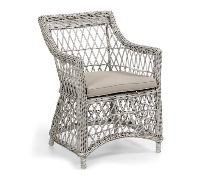 Плетеное кресло Beatrice white Brafab