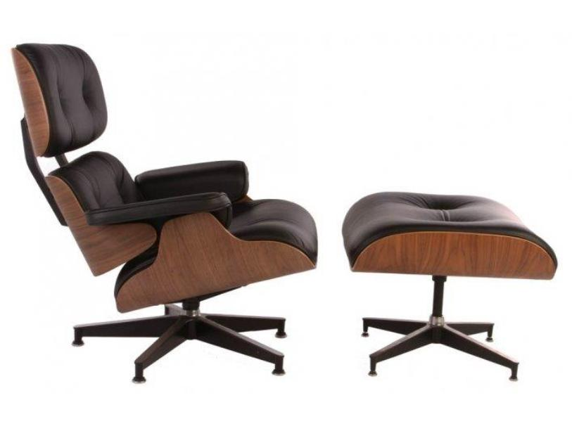 DG-HOME Кресло Eames Lounge Chair & Ottoman Premium the silver chair