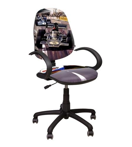 Детское компьютерное кресло Поло 50/АМФ-4 Гонки №1Компьютерные кресла<br>Размер: 65х75 В109<br><br>Механизм: Сиденье и спинка кресла регулируются по высоте, спинка так же имеет регулируемый угол наклона и глубины<br>Материалы: Пластик, ткань<br>Полный размер: 65х75 В109<br>Вес товара (кг): 13,3<br>Примечание: Доставляется в разобранном виде<br>Изготовление и доставка: 2-3 дня<br>Условия доставки: Бесплатная по Москве до подъезда<br>Условие оплаты: Оплата наличными при получении товара<br>Подъем на лифте: 300 руб.<br>Гарантия: 12 месяцев<br>Производство: Украина