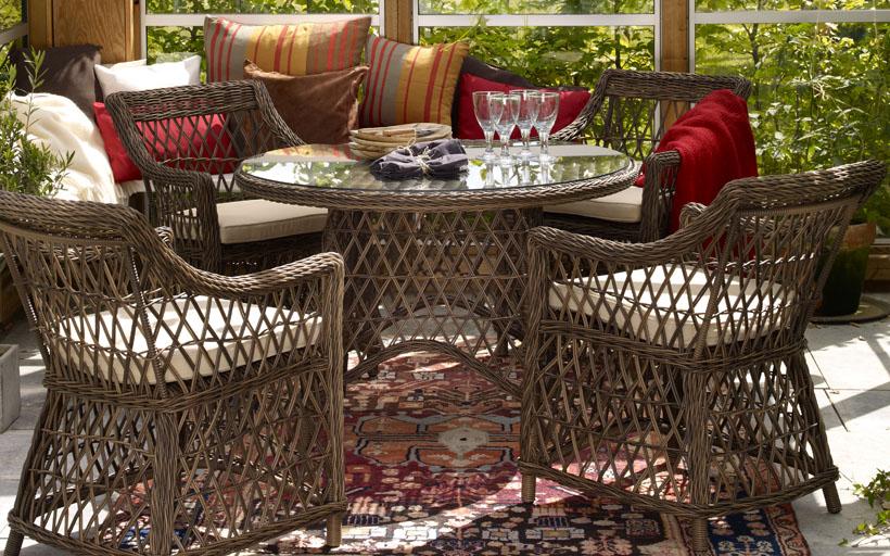 Комплект плетеной мебели Beatrice brown Brafab
