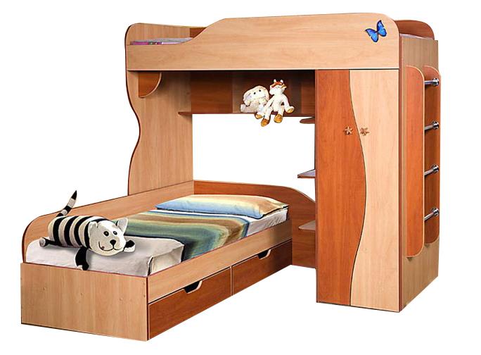 Кровать двухъярусная 02 КМК 0252Детские кровати<br>Размер: 2020х1720х1900<br><br>Материалы: ЛДСП, кромка ПВХ<br>Полный размер (ДхВхГ): 2020х1720х1900<br>Спальное место: 1860х800<br>Комплектация: Матрас не входит в стоимость<br>Цвет: Яблоня локарно светлая/Яблоня локарно тёмная<br>Изготовление и доставка: 5-7 дней<br>Условия доставки: Бесплатная по Москве до подъезда<br>Условие оплаты: Оплата наличными при получении товара<br>Доставка по МО (за пределами МКАД): 35 руб./км. Доставка за МКАД, за пределы трассы А-107 (ММК)<br>Доставка в пределах ТТК: +1000 руб. Доставка в центр Москвы осуществляется ночью, с 22.00 до 7.00 утра<br>Подъем на грузовом лифте: 3% от стоимости изделия<br>Подъем без лифта: 1,5% от стоимости изделия за 1 этаж<br>Сборка: 10% от стоимости изделия. Выезд сборщика за МКАД до 30 км (за исключением близлежащих районов Москвы - Южное Бутово, Митино и т.п.) - 500 руб. дополнительно к стоимости сборки, от 30 до 100 км - 1000 руб.<br>Гарантия: 18 месяцев<br>Производство: Беларусь<br>Производитель: КМК