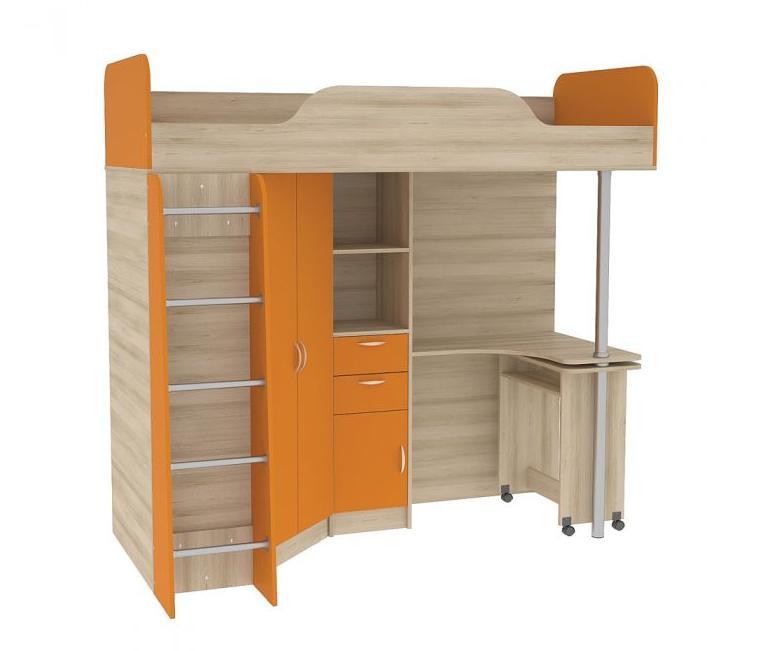Кровать-чердак со столом Ника 427 Т r 96 со столом