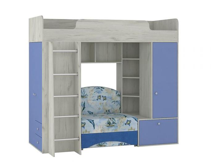 Кровать-чердак с диваном Тетрис 1 366