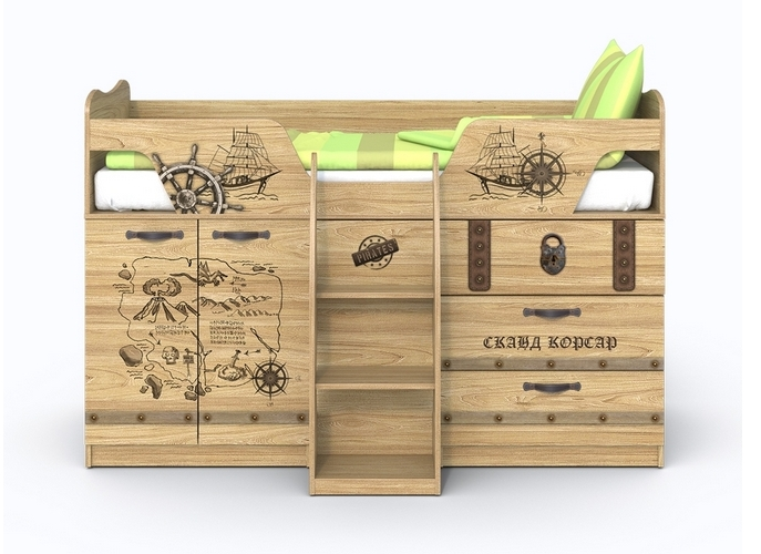 Кровать-чердак Корсар-2