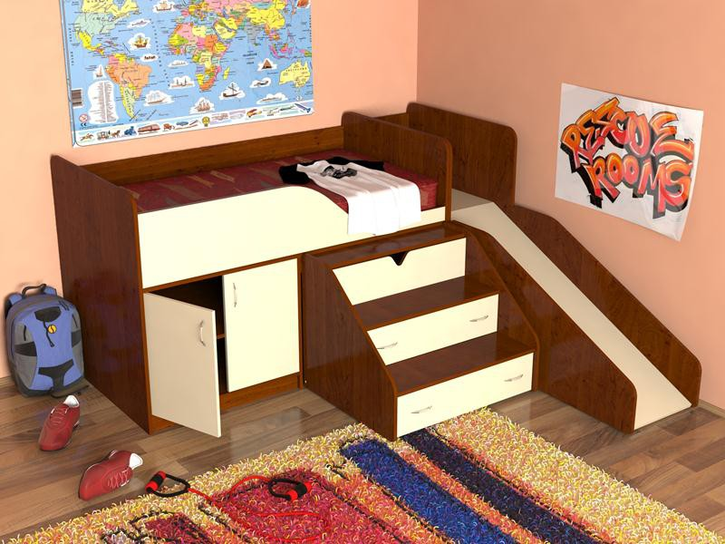 Кровать-чердак Кузя-3