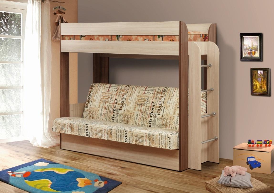 Кровать-чердак с диван -кроватью Немо Олмеко
