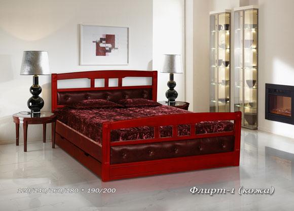 Кровать Флирт-1 (Кожа)