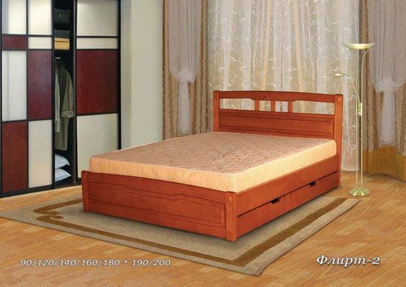 Деревянная кровать Флирт-2