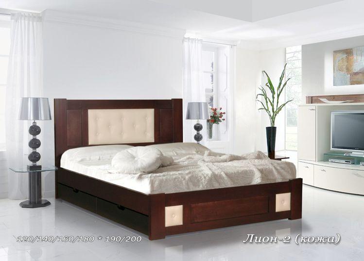 Кровать Лион-2 (Кожа)