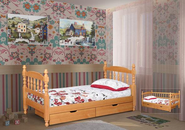 Точеная одноярусная кровать