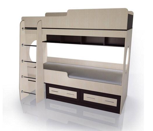 комод мебелайн 1 2-х ярусная кровать Мебелайн-1