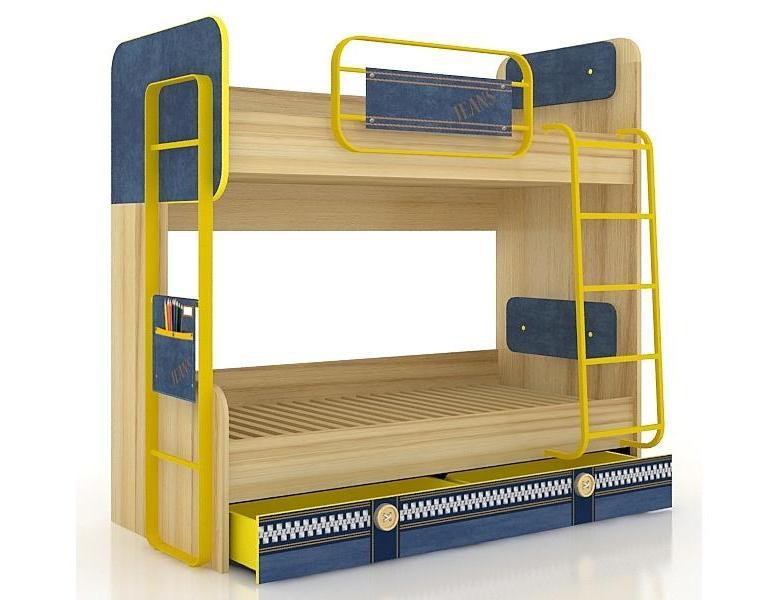 Любимый дом Кровать двухъярусная Джинс ЛД 507.150