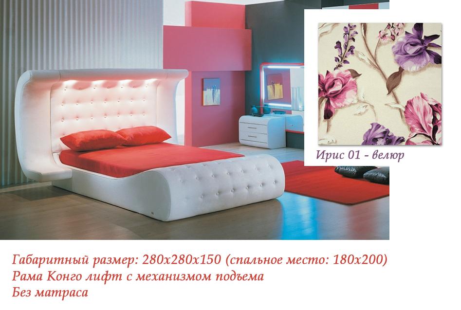 Интерьерная кровать Азалия-л15