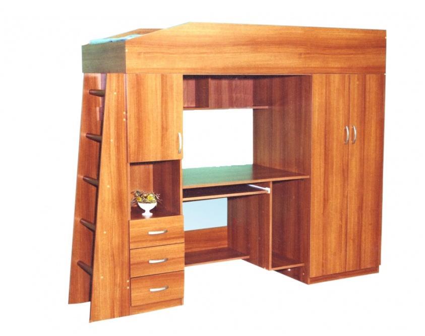 Детская комната ЧердакДетские комнаты<br>Размер: 2170х1740х740<br><br>Материалы: ЛДСП, кромка ПВХ<br>Полный размер (ДхВхГ): 2170х1740х740<br>Комплектация: Матрас входит в стоимость<br>Примечание: Ручки пластиковые в цвет мебели!<br>Изготовление и доставка: 8-10 дней<br>Условия доставки: Бесплатная по Москве до подъезда<br>Условие оплаты: Оплата наличными при получении товара<br>Доставка по МО (за пределами МКАД): 30 руб./км<br>Доставка в пределах ТТК: Доставка в центр Москвы осуществляется ночью, с 22.00 до 6.00 утра<br>Подъем на грузовом лифте: 700 руб.<br>Подъем без лифта: 350 руб./этаж (включая первый)<br>Сборка: 10% от стоимости изделия, но не менее 1,000 руб.<br>Гарантия: 12 месяцев<br>Производство: Россия<br>Производитель: Mebelus