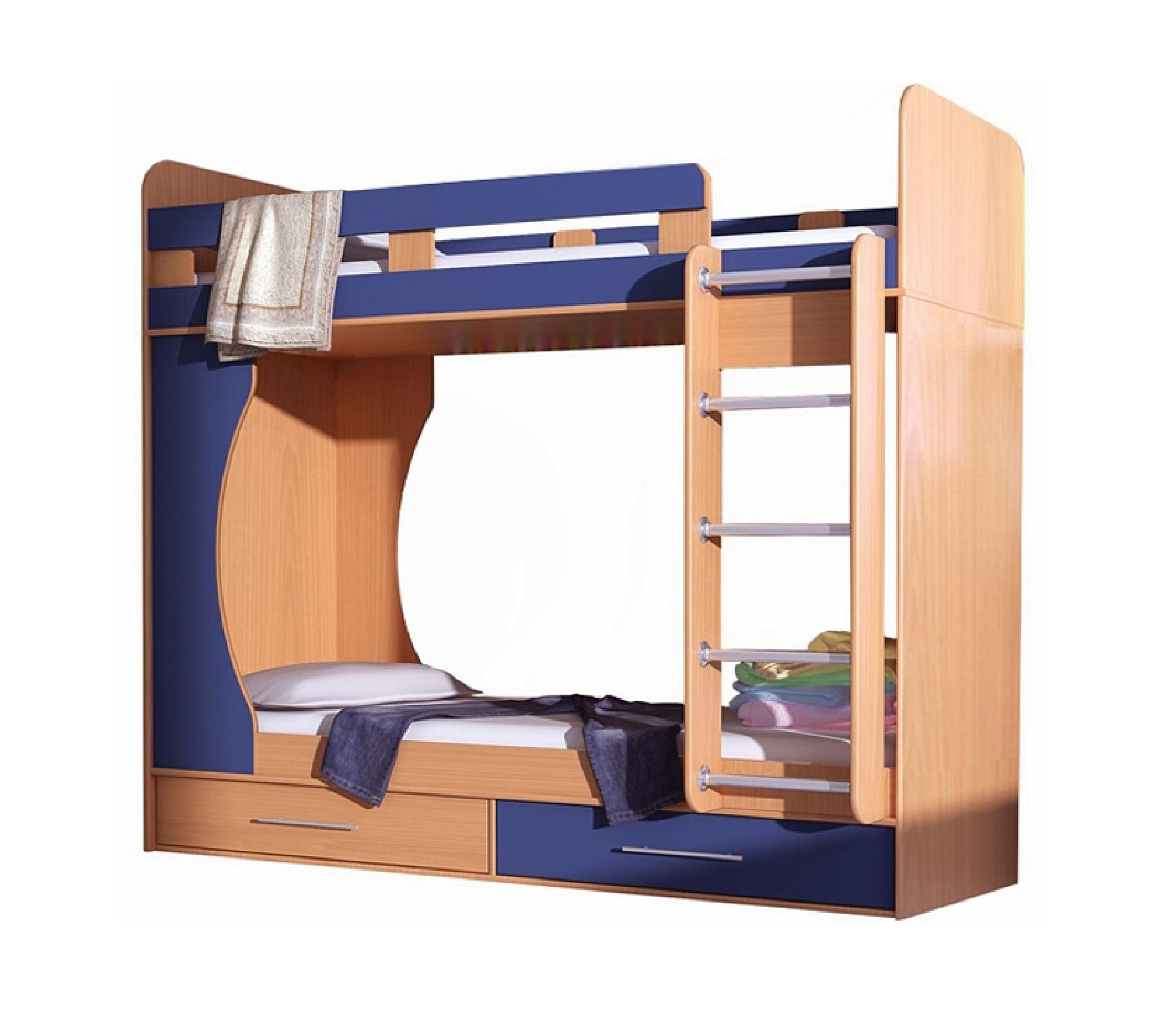 Кровать Д-902Детские кровати<br>Размер: 950х2050х2100<br><br>Материалы: ЛДСП, кромка ПВХ<br>Полный размер (ДхВхГ): 950х2050х2100<br>Комплектация: 2 ящика для белья<br>Примечание: Доставляется в разобранном виде<br>Важно: Матрасы в стоимость не входит!<br>Изготовление и доставка: 10-14 дней<br>Условия доставки: Бесплатная по Москве до подъезда<br>Условие оплаты: Оплата наличными при получении товара<br>Доставка по МО (за пределами МКАД): 30 руб./км<br>Доставка в пределах ТТК: Доставка в центр Москвы осуществляется ночью, с 22.00 до 6.00 утра<br>Подъем на грузовом лифте: 700 руб.<br>Подъем без лифта: 350 руб./этаж, включая первый<br>Сборка: 10% от стоимости изделия<br>Гарантия: 12 месяцев<br>Производство: Россия<br>Производитель: Grey