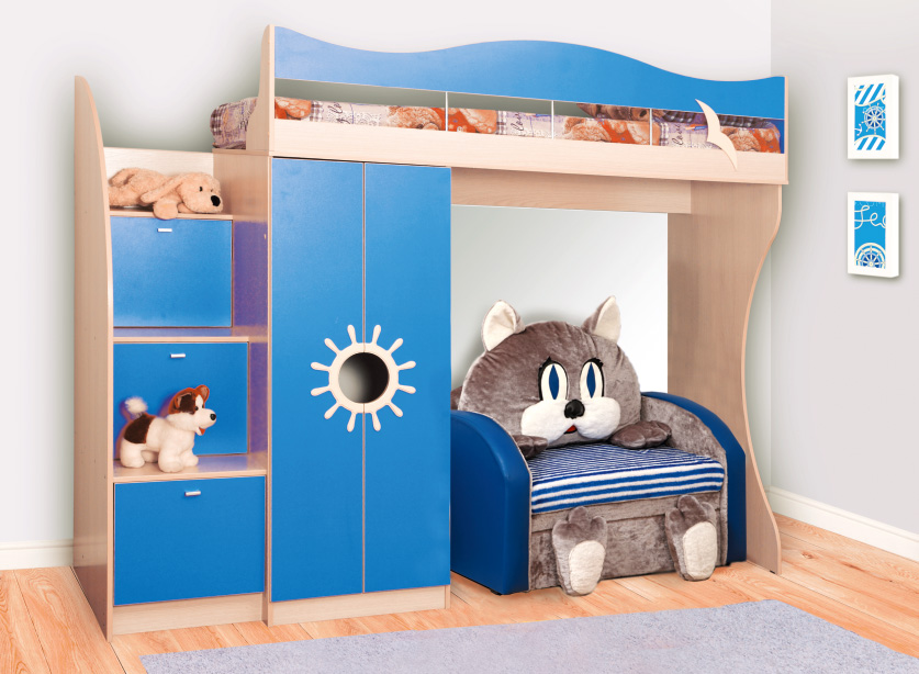 Кровать двухъярусная-Д1 Премиум