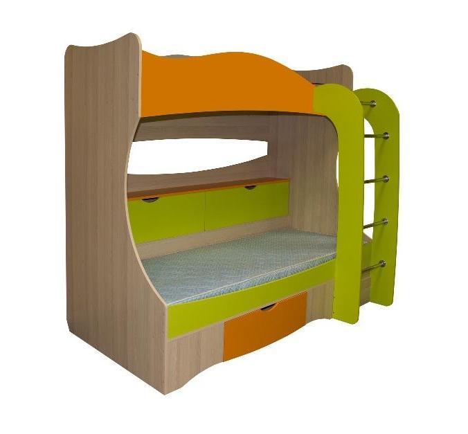 Кровать двухъярусная Почемучка