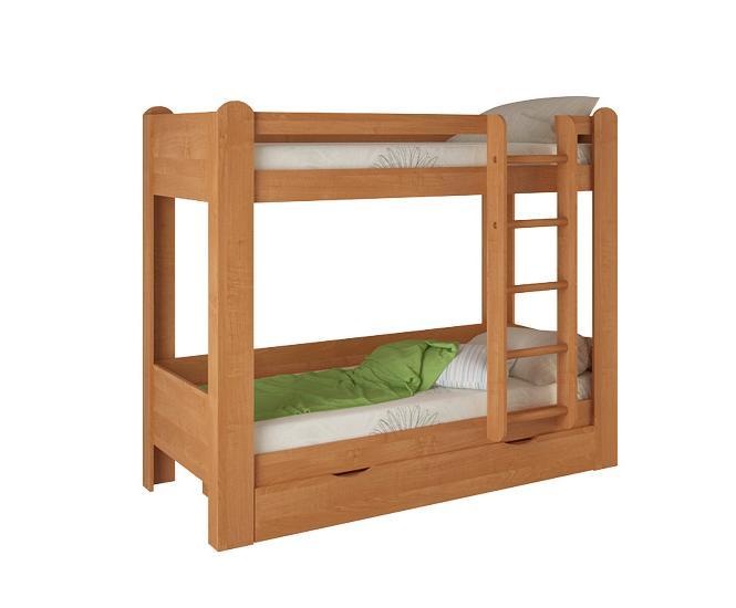 Кровать двухъярусная №1Детские кровати<br>Размер: 1932х976х1640<br><br>Материалы: ЛДСП, кромка ПВХ<br>Полный размер (ДхГхВ): 1932х976х1640<br>Спальное место: 800х1860<br>Вес товара (кг): 120<br>Комплектация: Матрас в стоимость не входит<br>Цвет: Ольха<br>Примечание: Доставляется в разобранном виде<br>Изготовление и доставка: 10-14 дней<br>Условия доставки: Бесплатная по Москве до подъезда<br>Условие оплаты: Оплата наличными при получении товара<br>Доставка по МО (за пределами МКАД): 30 руб./км<br>Доставка в пределах ТТК: Доставка в центр Москвы осуществляется ночью, с 22.00 до 6.00 утра<br>Подъем на грузовом лифте: 500 руб.<br>Подъем без лифта: 250 руб./этаж, включая первый<br>Сборка: 10% от стоимости изделия<br>Гарантия: 12 месяцев<br>Производство: Россия<br>Производитель: Корвет
