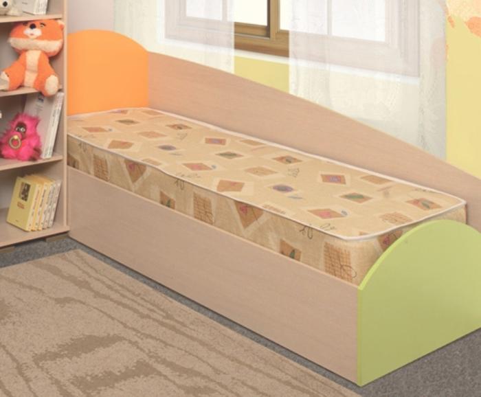Кровать одинарная Тони дуб линдберг/розовый