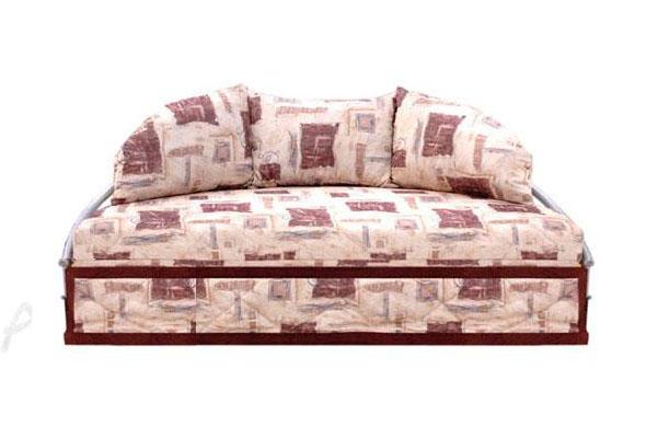 Выкатной диван-кровать ЛунаКровати<br>Размер: 200х105 (сп. м. 200х200)<br><br>Механизм: Выкатной<br>Каркас: Металлический<br>Полный размер (ДхГхВ): 200х105х82<br>Спальное место: 200х200<br>Высота сиденья (см): 39, в разложенном состоянии 26<br>Наполнитель: ППУ высокой плотности (Пенополиуретан)<br>Примечание: Стоимость указана по минимальной категории ткани<br>Изготовление и доставка: 3-7 дней<br>Условия доставки: Бесплатная по Москве до подъезда<br>Условие оплаты: Оплата наличными при получении товара<br>Доставка по МО (за пределами МКАД): 40 руб./км<br>Подъем на грузовом лифте: 700 руб.<br>Подъем без лифта: 300 руб./этаж<br>Сборка: 500 руб.<br>Гарантия: 12 месяцев<br>Производство: Россия<br>Производитель: Аккорд