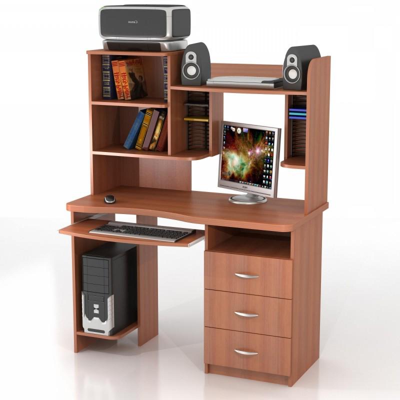Компьютерный стол с надстройкой КС-10М + КН-7